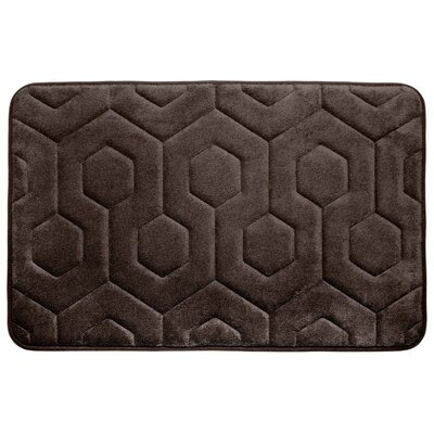Hexagon Micro Plush Memory Foam Bath Mat Color: Espresso