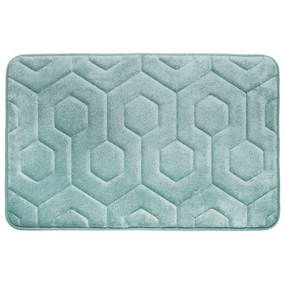 Micro Plush Memory Foam Bath Rug Color: Aqua