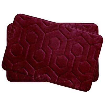 Hexagon Small Plush Memory Foam Bath Mat Color: Barn