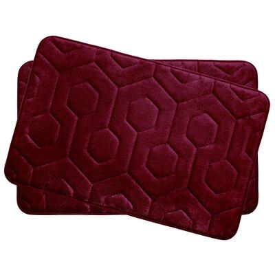 Hexagon Small Plush Memory Foam Bath Mat Color: Barn