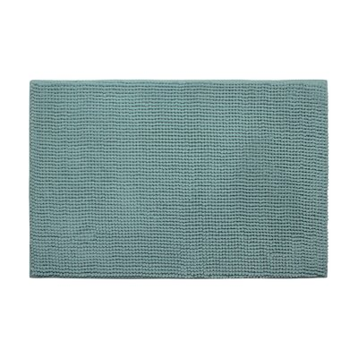 Arecibo Plush Memory Foam Chenille Cushioned Bath Mat Color: Marine Blue, Size: 17 x 24