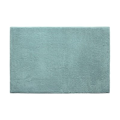 Plush Memory Foam Chenille Cushioned Bath Mat Color: Aqua, Size: 17 x 24