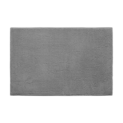 Arecibo Plush Memory Foam Chenille Cushioned Bath Mat Color: Light Grey, Size: 20 x 30