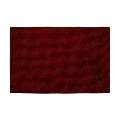 Arecibo Plush Memory Foam Chenille Cushioned Bath Mat Color: Dark Red, Size: 20 x 30