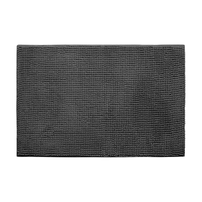Arecibo Plush Memory Foam Chenille Cushioned Bath Mat Color: Dark Grey, Size: 17 x 24