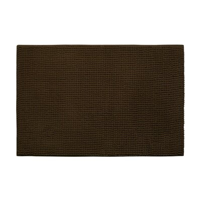Arecibo Plush Memory Foam Chenille Cushioned Bath Mat Color: Chocolate, Size: 17 x 24