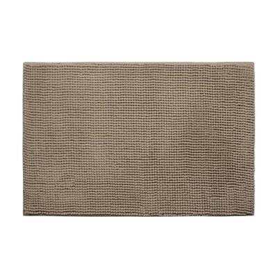Plush Memory Foam Chenille Cushioned Bath Mat Color: Linen, Size: 20 x 30