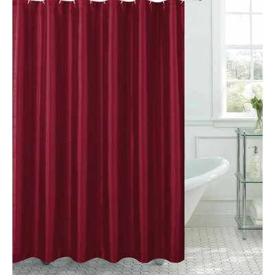 Faux Silk Shower Curtain Set Color: Burgundy