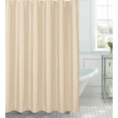 Samar Faux Silk Shower Curtain Set Color: Beige