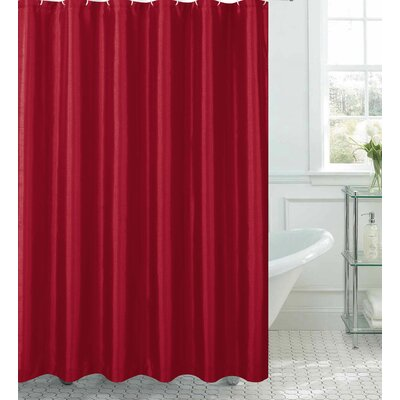 Samar Faux Silk Shower Curtain Set Color: Crimson