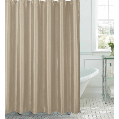 Samar Faux Silk Shower Curtain Set Color: Taupe
