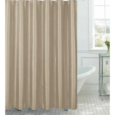 Samar Faux Silk Shower Curtain Set Color: Taupe