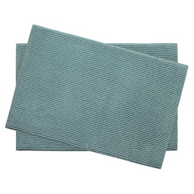 Plush Memory Foam Chenille Cushioned Bath Mat Color: Marine Blue, Size: 24 x 17