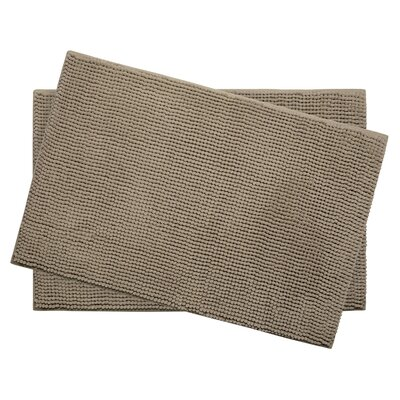 Plush Memory Foam Chenille Cushioned Bath Mat Color: Linen, Size: 24 x 17