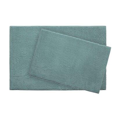 Plush Memory Foam Chenille Cushioned Bath Mat Color: Marine Blue, Size: 30 x 20