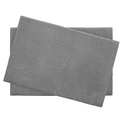 Plush Memory Foam Chenille Cushioned Bath Mat Color: Light Grey, Size: 24 x 17