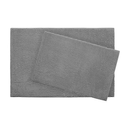 Plush Memory Foam Chenille Cushioned Bath Mat Color: Light Grey, Size: 30 x 20