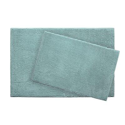 Plush Memory Foam Chenille Cushioned Bath Mat Color: Aqua, Size: 30 x 20