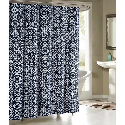 Allure Shower Curtain Color: Indigo