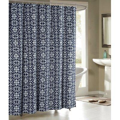 Allure Shower Curtain Color: Indigo