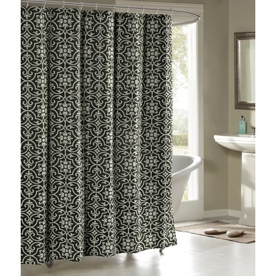 Allure Shower Curtain Color: Charcoal