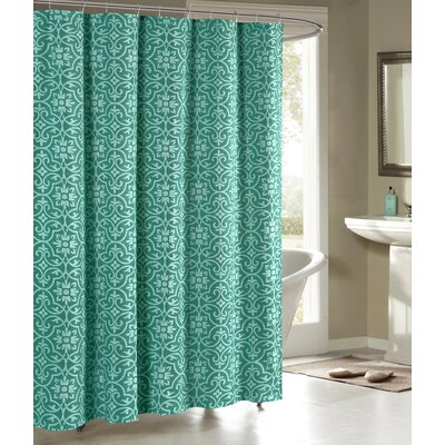 Allure Shower Curtain Color: Teal