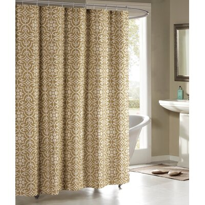 Allure Shower Curtain Color: Taupe