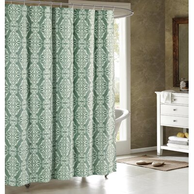 Adisson Printed Shower Curtain Color: Harbor Grey