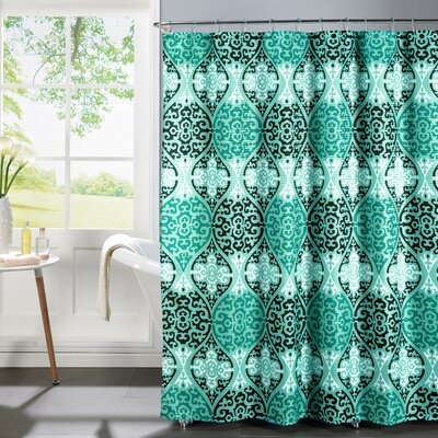 Oxford Weave Textured Shower Curtain Set