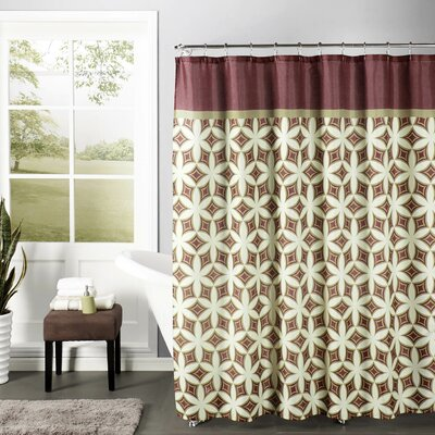 Faux Linen Textured Shower Curtain Set