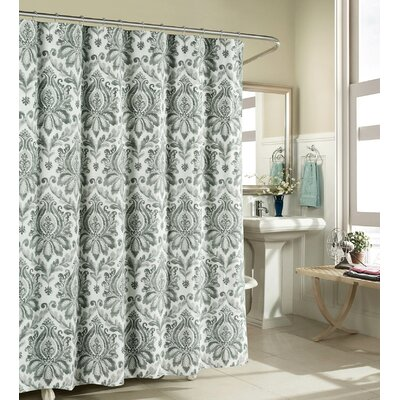 Cotton Shower Curtain Color: Gray