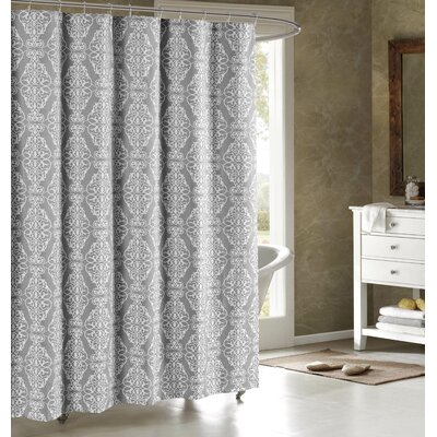 Adisson Printed Shower Curtain Color: Grey