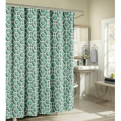 Lenox Cotton Shower Curtain Color: Teal