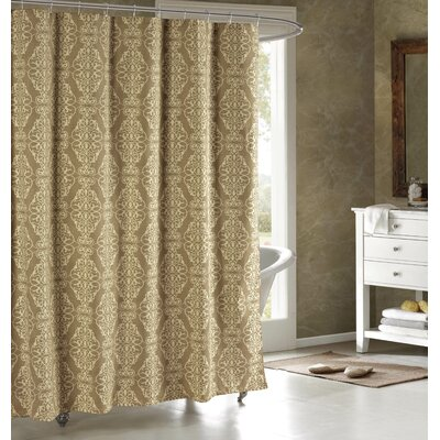 Adisson Printed Shower Curtain Color: Taupe