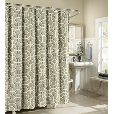 London Cotton Shower Curtain Color: Taupe
