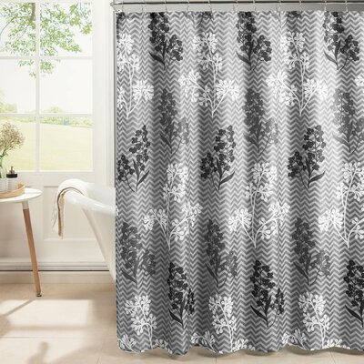 Diamond Weave Textured Shower Curtain Set Color: Gray