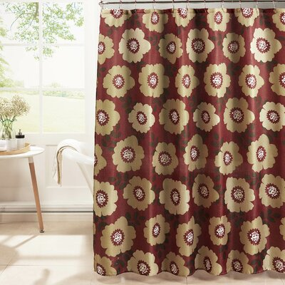 Diamond Weave Textured Shower Curtain Set Color: Barn