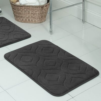 Belhaven Plush Memory Foam Bath Mat Size: 17 W x 24 L, Color: Dark Grey