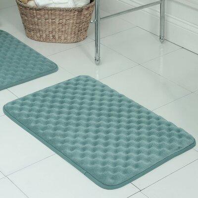 Witmer Micro Plush Memory Foam Bath Mat Size: 20 W x 32 L, Color: Marine Blue