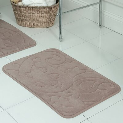 Pelton Plush Memory Foam Bath Mat Size: 17 W x 24 L, Color: Linen