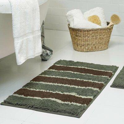 Herald Microfiber Bath Rug Size: 18 x 30, Color: Sage
