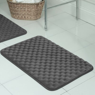 Witmer Micro Plush Memory Foam Bath Mat Size: 17 W x 24 L, Color: Dark Grey