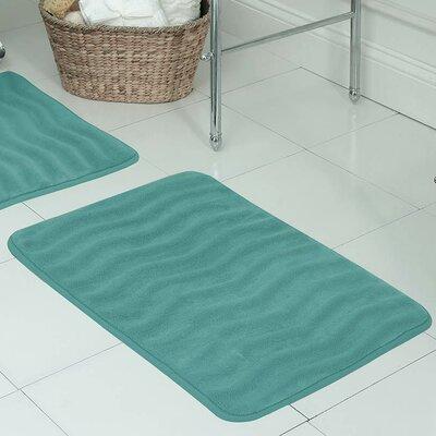 Behnke Micro Plush Memory Foam Bath Mat Size: 17 W x 24 L, Color: Turquoise