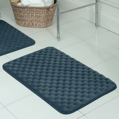 Witmer Micro Plush Memory Foam Bath Mat Size: 20 W x 32 L, Color: Dusty Blue