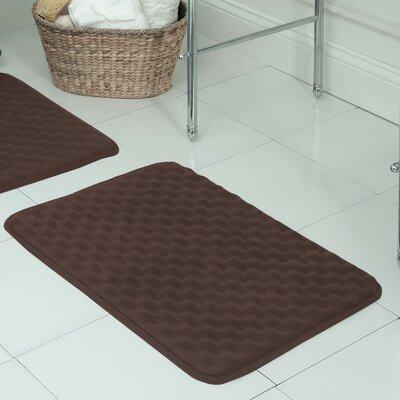Witmer Micro Plush Memory Foam Bath Mat Size: 17 W x 24 L, Color: Mocha