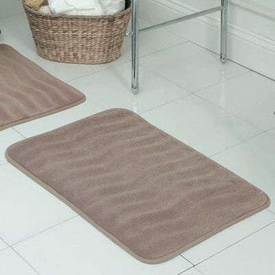 Behnke Micro Plush Memory Foam Bath Mat Size: 17 W x 24 L, Color: Linen