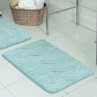Drona Premium Micro Plush Memory Foam Bath Mat Color: Marine Blue, Size: 20 W x 32 L