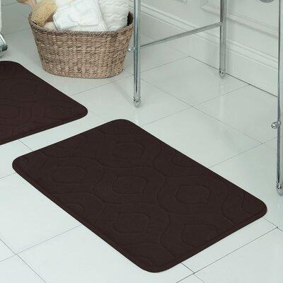Belhaven Plush Memory Foam Bath Mat Size: 17 W x 24 L, Color: Espresso