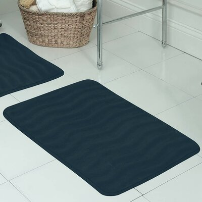Behnke Micro Plush Memory Foam Bath Mat Size: 20 W x 32 L, Color: Dusty Blue