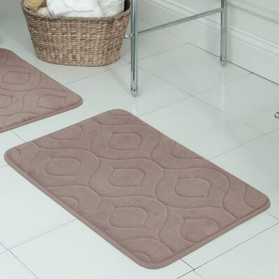 Naoli Plush Memory Foam Bath Mat Size: 17 W x 24 L, Color: Linen